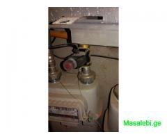 გაზის გაჟონვის დეტექტორი ავტომატური ჩამკეტით, მონტაჟი.
